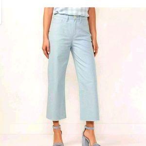 LAUREN CONRAD High Rise Wide Leg Ankle crop jean
